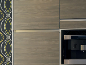 modern kitchen with stove and dishware